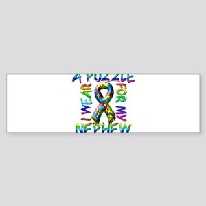 I Wear A Puzzle for my Nephew Sticker (Bumper)