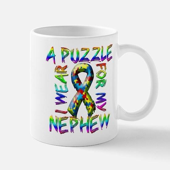 I Wear A Puzzle for my Nephew Mug