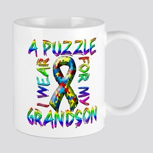 I Wear A Puzzle for my Grands Mug