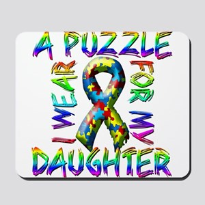 I Wear A Puzzle for my Daught Mousepad