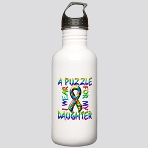 I Wear A Puzzle for my Daught Stainless Water Bott