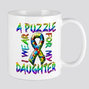 I Wear A Puzzle for my Daught Mug