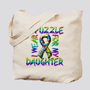 I Wear A Puzzle for my Daught Tote Bag