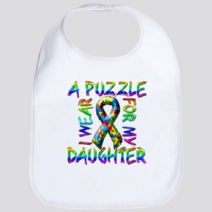 I Wear A Puzzle for my Daught Bib