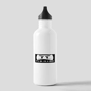 NINJA SHIRT IT'S OK I'M A NIN Stainless Water Bott