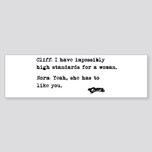 'Cheers Quote' Sticker (Bumper)