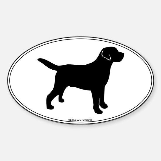All Lab Outline Sticker (Oval)
