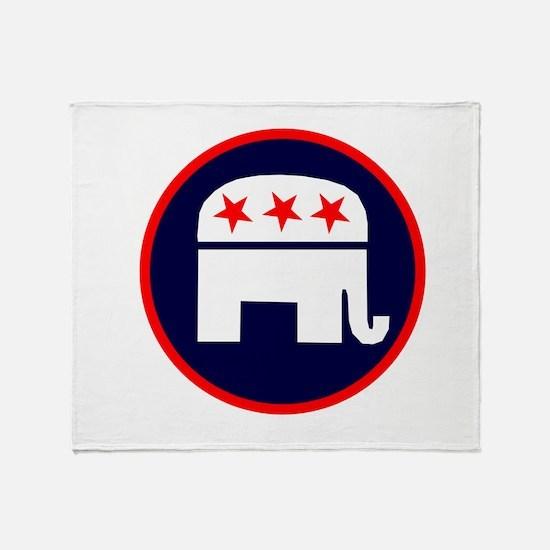 REPUBLICAN ELEPHANT ELELCTION Throw Blanket