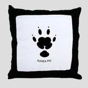 Guinea Pig Paw Print Throw Pillow
