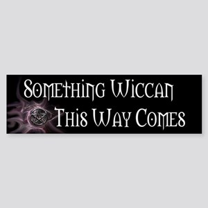 Something Wiccan Sticker (Bumper)