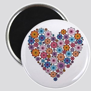 Flower hearts ~ Muted colors Magnet