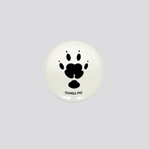 Guinea Pig Paw Print Mini Button