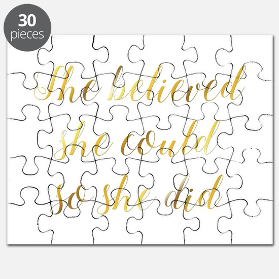 She Believed She Could So She Did Graduatio Puzzle