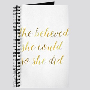 She Believed She Could So She Did Graduati Journal