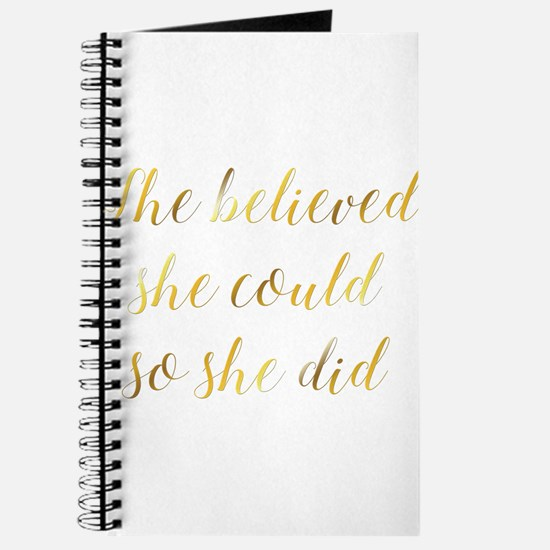 She Believed She Could So She Did Graduati Journal