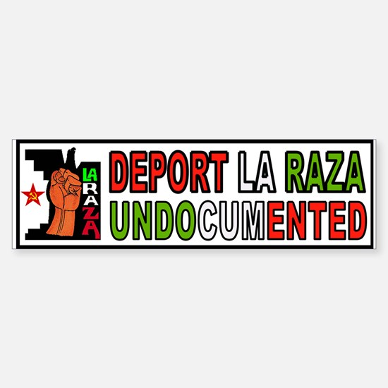 DEPORT ILLEGALS Sticker (Bumper)