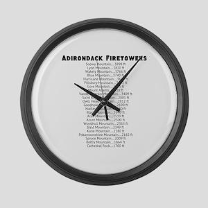 Adirondack Firetowers Large Wall Clock