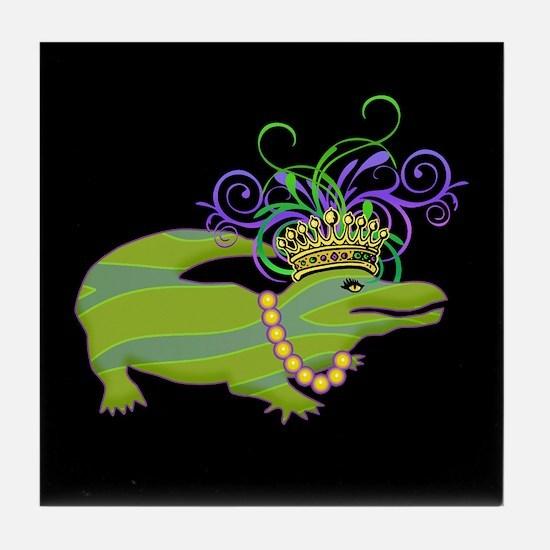 Royalty Gator Tile Coaster