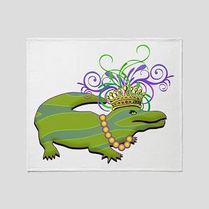 Royalty Gator Throw Blanket