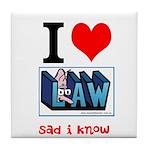 Sad Law Student's Tile Coaster