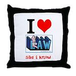 Sad Law Student's Throw Pillow