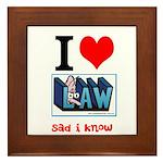 Sad Law Student's Framed Tile