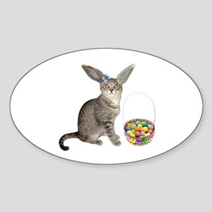 Easter Kitten Sticker (Oval)