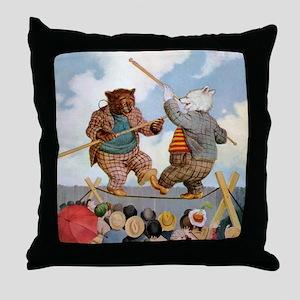 Roosevelt Bears Jousting Throw Pillow