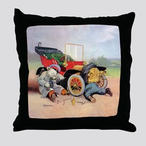 Roosevelt Bear Mechanic Throw Pillow