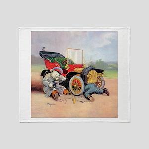 Roosevelt Bear Mechanic Throw Blanket