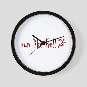 Run Like Hell Wall Clock