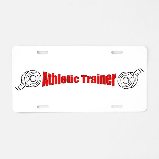Athletic Trainer Aluminum License Plate