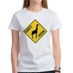 Giraffe Crossing Sign Women's T-Shirt