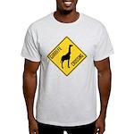 Giraffe Crossing Sign Light T-Shirt