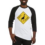 Giraffe Crossing Sign Baseball Jersey