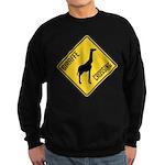 Giraffe Crossing Sign Sweatshirt (dark)