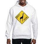 Giraffe Crossing Sign Hooded Sweatshirt