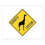 Giraffe Crossing Sign Small Poster