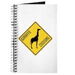 Giraffe Crossing Sign Journal