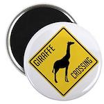 Giraffe Crossing Sign Magnet