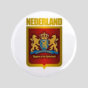 """""""Netherlands Gold"""" 3.5"""" Button"""