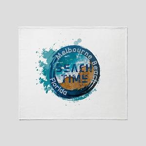 Florida - Melbourne Beach Throw Blanket