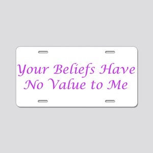 No Value Aluminum License Plate