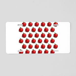 Red Apple Fruit Pattern Aluminum License Plate
