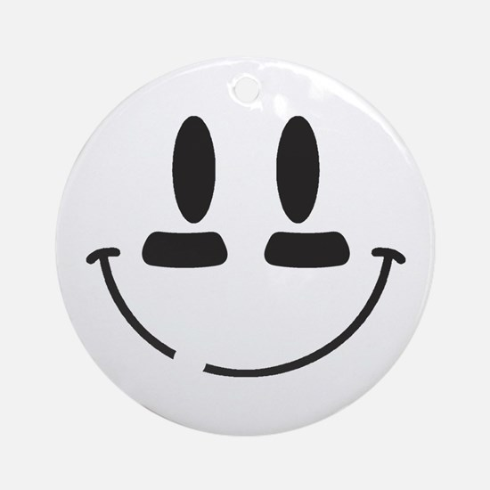 Football Smiley Ornament (Round)