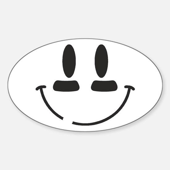 Football Smiley Sticker (Oval)