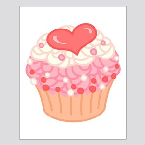 Strawberry Vanilla Cupcake Small Poster