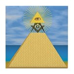 Masonic Eye, Pyamid & S&C Tile Coaster