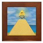 Masonic Eye, Pyamid & S&C Framed Tile