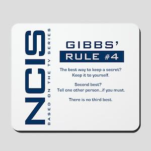 NCIS Gibbs' Rule #4 Mousepad